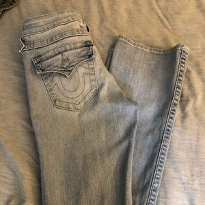 True Religion boot but jeans light rinse jeans